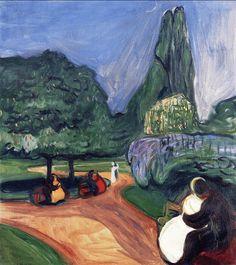 Summer Night in Studenterlunden 1899. Edward Munch (1863-1944)