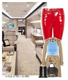 """Celebrity Life: My Private Jet: Tokyo ✈️ Los Angeles"" by jhessicakauana ❤ liked on Polyvore featuring Topshop, Burberry, Truly Madly Deeply, Louis Vuitton and Jeffrey Campbell"