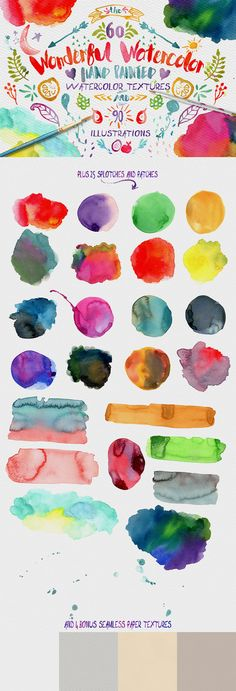 Wonderful Watercolor Design Pack by Creativeqube Design on Creative Market