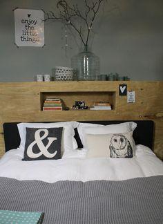 Achterwand bed on pinterest headboards beds and book headboard - Deco design slaapkamer ...