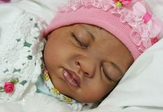 REBORN doll ethnic AA baby girl LEELU kit Natalie Blick~sold out~by Magikgarden   eBay