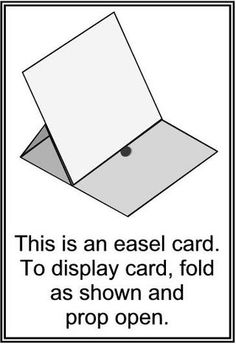 Image result for easel card instructions for display
