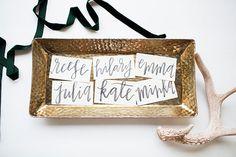 How sweet are these wedding escort cards {via POPPYjack SHOP}