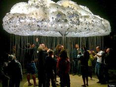 CLOUD is a large-scale interactive sculpture by Caitlind r.c. Brown for Nuit Blanche Calgary.