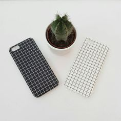 New! Grid iphone case Bendy silicone really easy to get on and off Clear sides (same as seen in 2nd photo)  Choose your phone size and whoxh version