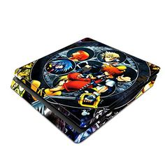 Decorative Video Game Skin Decal Cover Sticker for Sony PlayStation 4 Slim Console PS4  Kingdom Hearts ** Check this awesome product by going to the link at the image.Note:It is affiliate link to Amazon.
