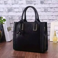 Casual String Leather Tote Bag