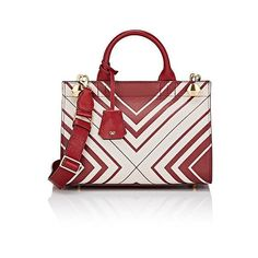 Anya Hindmarch Women's Ephson Mini-Satchel ($1,129) ❤ liked on Polyvore featuring bags, handbags, multi, mini satchel purse, bow purse, mini satchel handbags, strap purse and satchel purses