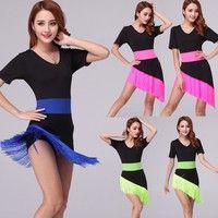 Style: Fashion Irregular Sexy Tassel Latin Dance Dress,Bodycon mini Latin dance dress Material: Mi