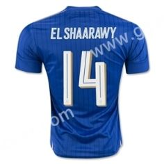 2016 European Cup Italy EL SHAARAWY Home Blue Thailand Soccer Jersey