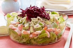 Layered Shrimp & Avocado Salad http://www.kraftcanada.com/en/recipes/layered-shrimp-avocado-salad-122543.aspx