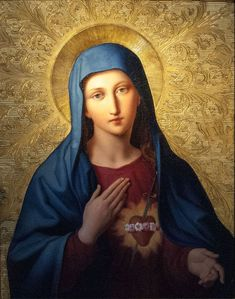 "coriesu: ""Aug 22 ––Latin Calendar–– The Immaculate Heart of Mary Unknown artist """