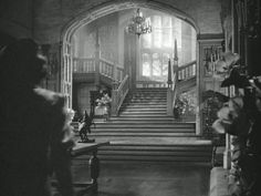 """The staircase windows at """"Manderly"""" - when I first saw Rebecca as a little kid, my 8 year-old jaw dropped - that house - if only it was real!"""