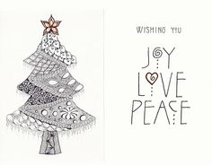 Love the lettering.  The NEW Ramblings of a Creative Mind: Christmas Card Zentangle wishes for you