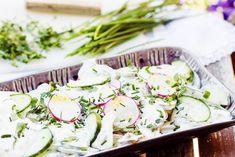 Surówki obiadowe - przepisy na surówki - blog kulinarny - codojedzenia.pl Coleslaw, Vegan Vegetarian, Potato Salad, Potatoes, Ethnic Recipes, Food, Cucumber Salad, Polish, Cabbage Salad