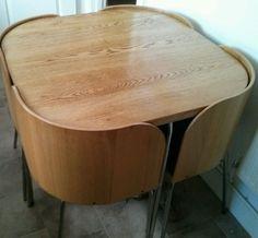 Ikea Fusion Kitchen Dining Set Table & 4 Chairs Oak Veneer