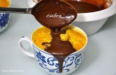 Bolo de Cenoura e Chocolate Individual, feito no micro ondas e pronto em 3 minutinhos, sem liquidificador, sem sujeira na cozinha!