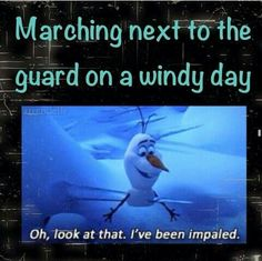 Hahahaha.... thankfully I don't have that kind of issue due to me being in guard but I can see where this would be of concern Life throws you curves. Being prepared is everything. Be ready for anything - DrumCorpsReady.com
