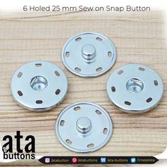 "In addition to our 6 holed sewing snap buttons which we are currently producing, we started the production of ""25 mm 6 holed Sewing Snap Buttons"".  #snapbuttons #textile #accessories"