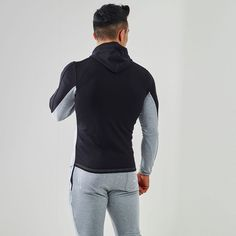 Fit Hooded Top 2.0   Gym Hoodie   Black / Grey Marl   Gymshark - Tap the pin if you love super heroes too! Cause guess what? you will LOVE these super hero fitness shirts!