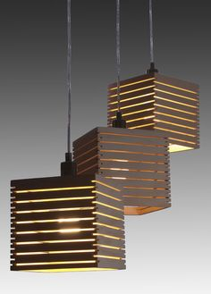wood slats lamp shades - idea for side yard pergola - add electricity to structure