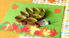 DIY :Toilet Paper Roll Autumn Hedgehog Craft by Rachel