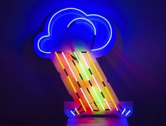 Rain Rain Go Away! Why not brighten things up with our new hire item, a multicolour neon raincloud. #silverlining ☔☔ #photography @kofipaintsil Check out this and more within our prop section on ☞www.kemplondon.com☜