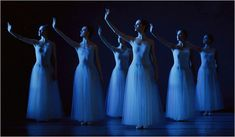 NYCB dancers in George Balanchine's Serenade, photo by Paul Kolnik
