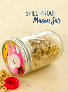 Mason Jar Crafts You Can Make In Under an Hour - DIY Spill Proof Mason Jar - Quick Mason Jar DIY Projects that Make Cool Home Decor and Awesome DIY Gifts - Best Creative Ideas for Mason Jars with Step By Step Tutorials and Instructions - For Teens, For Home, For Gifts, For Kids, For Summer, For Fall http://diyjoy.com/quick-mason-jar-crafts
