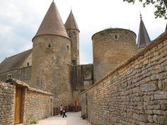 Châteauneuf-en-Auxois castle gate, Burgundy, France