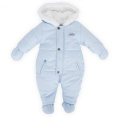 Absorba Baby Blue Fleece Snowsuit hihi nice
