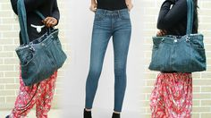 How To Make Hand Bag From Old Jeans - DIY | Refashion Clothes - YouTube