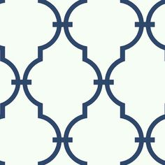 Navy Blue GM1278 Curvilinear Faux Ironworks Wallpaper