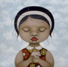 2008 PIGGY FOR NINI (detail), Poh Ling Yeow a Malaysian-born Australian artist, actress and runner-up in MasterChef Australia Masterchef Australia, Pop Surrealism, Australian Artists, Garden Crafts, Portrait Inspiration, Heart Art, Chinese Art, Black Art, Asian Art
