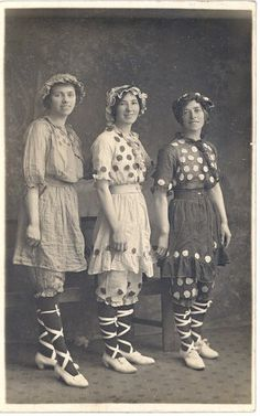 .guess the olden days weren't that drab! Love the outfits!
