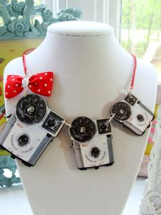 Vintage Brownie Camera Necklace #camera @Jill Mott