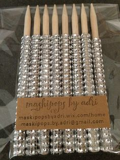 Caramel Apple Bling Sticks by maskipopsbyadri on Etsy, $12.00