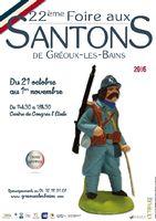 Foire aux santons de Gréoux les Bains du 21 octobre au 1er novembre 2016 (Alpes de haute Provence) - crèche et santons de Noel