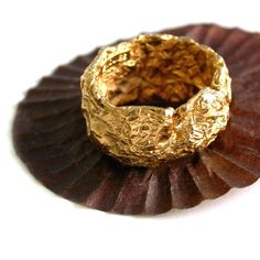 """Choclate ring by Emquies-Holstein.  A collection designed by Hanan Emquies for an exhibition: """"..a girls best friend."""""""