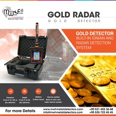 built-in Ionian and Radar Detection System To Detect & Search For Gold Underground  Gold Radar : New scientific innovation in the world of gold detection and exploration devices, Gold Radar is the result of many trials and lengthy studies, which lasted for more than three years.