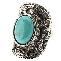 Arc geométrica do anel de prata de turquesa – BRL R$ 7,59