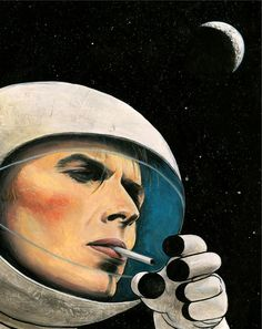 Image inspirée par l'album 'Space Oddity' de David Bowie.