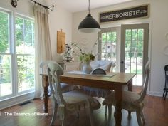 Herboriste sign | dining room of Kelly from Essence of Home