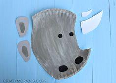 paper plate rhino