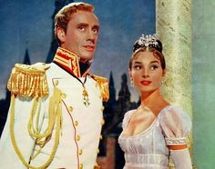 Audrey Hepburn and Mel Ferrer in War and Peace 1956..