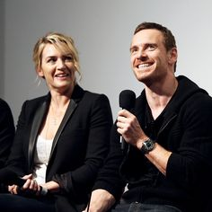 """mcavoys: """" Kate Winslet and Michael Fassbender attend the Academy of Motion Picture Arts and Sciences hosts an official Academy screening of 'Steve Jobs' at Crosby Hotel on October 4, 2015 in New York..."""