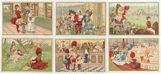 CHROMOS BON MARCHÉ - 1889/1891 - FILLETTES en VISITE. A la campagne, au bon marché,[...] | Auction.fr