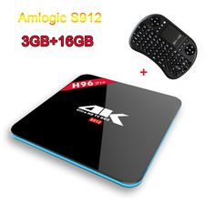 H96 Pro TV Box Amlogic s912 Octa core Android 6.0 OS Smart TV Box 3GB/16GB 1000 LAN KODI 17.0 H.265 4K Media Player+i8 Keyboard