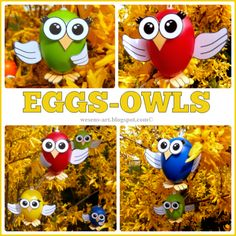 Eggs-Owls / Eier-Eulen - .     .       .     Wesens-Art