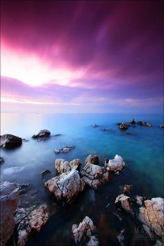 Fairy purple sky